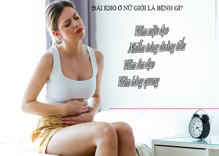 Đái khó ở nữ giới là triệu chứng của nhiều bệnh nguy hiểm